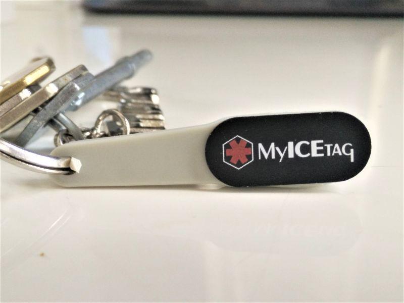 Medical ID keychain