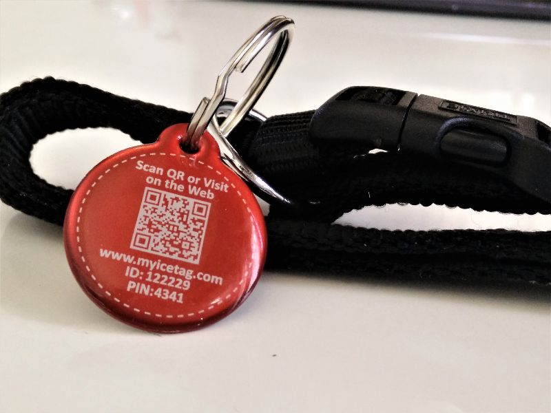 Digital pet id tag.