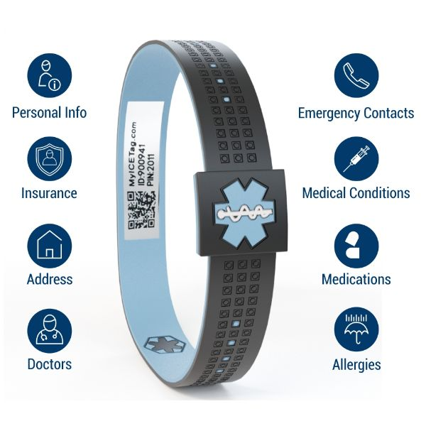 Stylish  Medical Alert Wristband