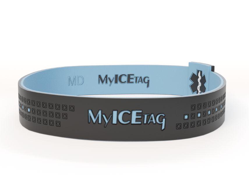 Emergency medical alert wristbands